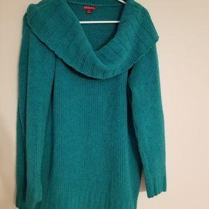 Merona chenille cowl neck pullover sweater